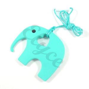éléphant en silicone à mâchouiller pour bébé turqouise