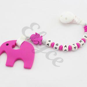 attache dentition éléphant personnalisé en silicone agathe 2
