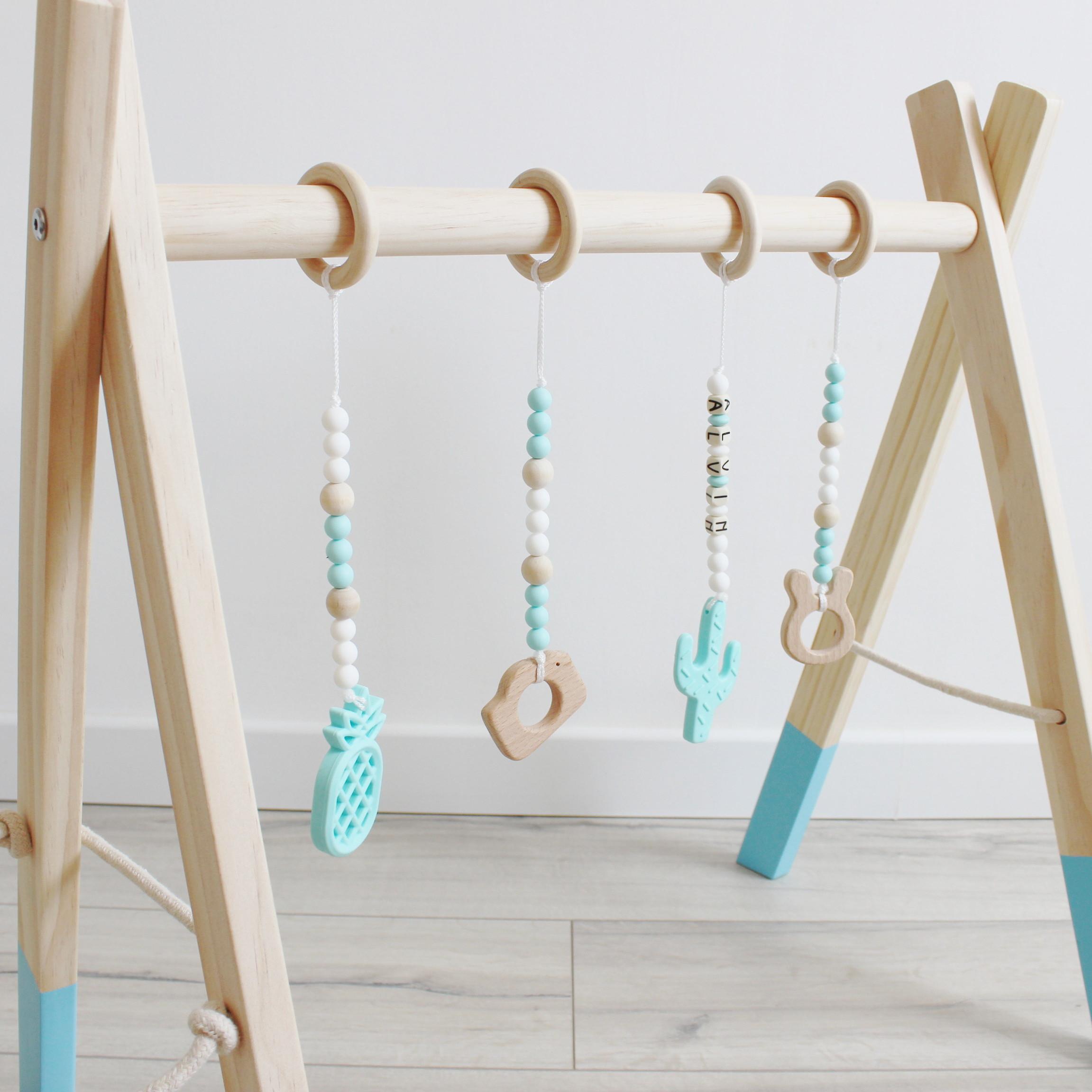 suspension d 39 veil donut pour portique couleur bois blanc bleu elyce creation. Black Bedroom Furniture Sets. Home Design Ideas